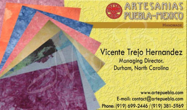 Arte Puebla Business Card